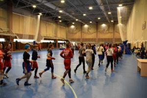 Молодежная женская команда по боксу на ТМ в МСБК «Парамоново»