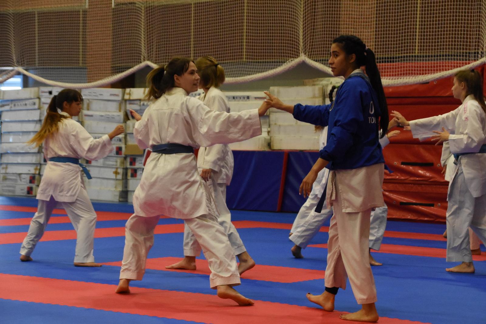Молодежный состав  по каратэ на ТМ в Парамоново