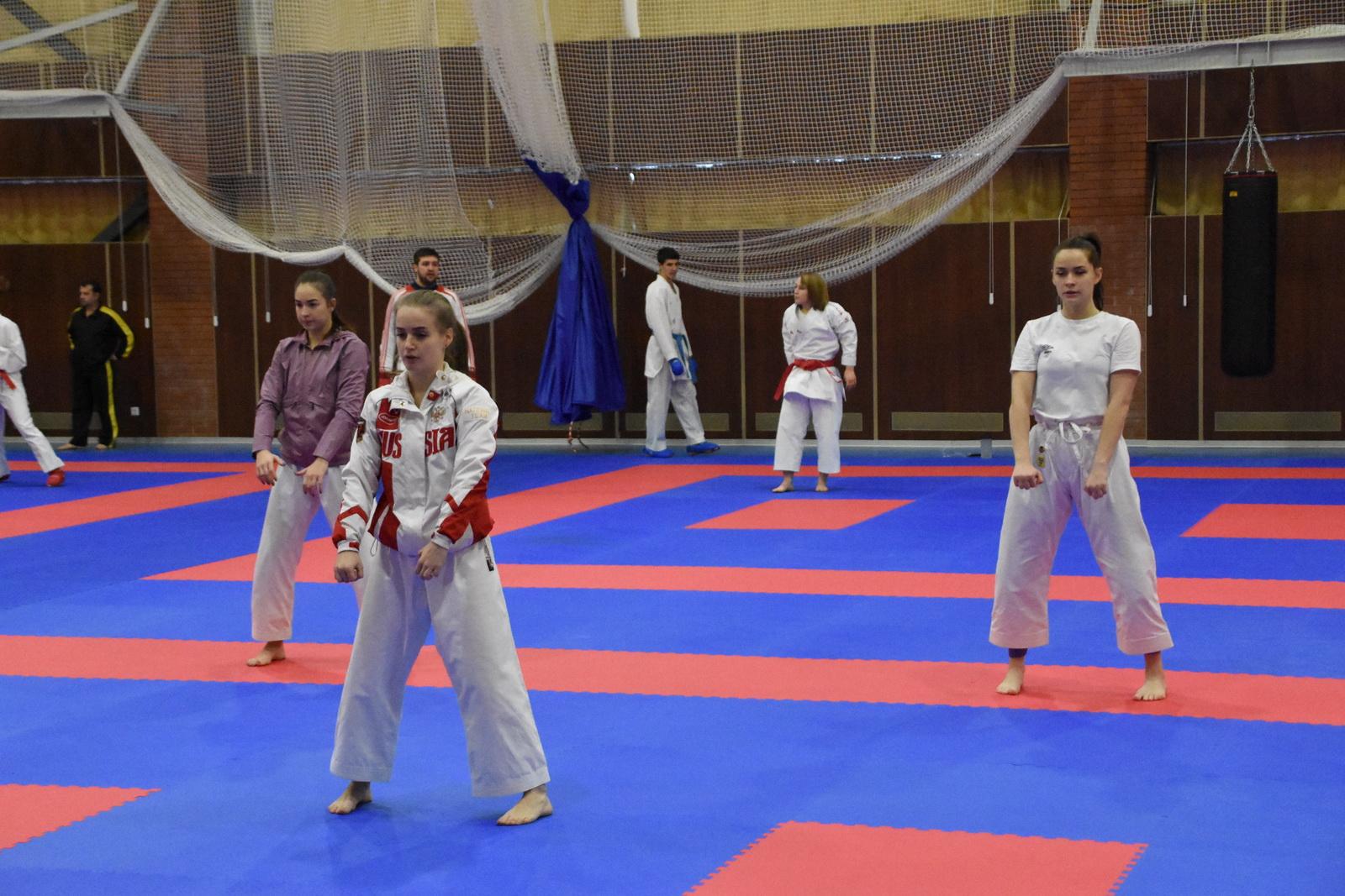 Основной состав сборной команды по каратэ на ТМ в «Парамоново».